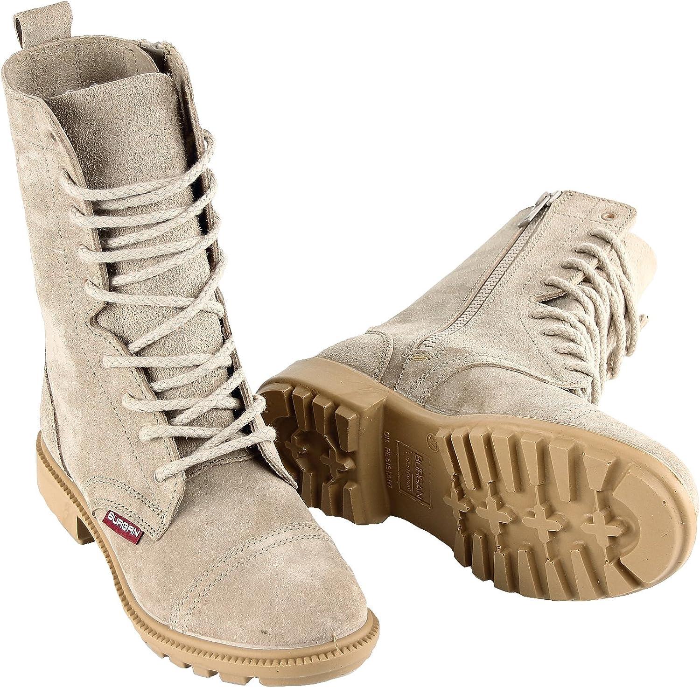 BURGAN 832 Desert Combat Boot - All All All mocka Leather with Side Zipper (Unisex) Casual Outdoor for Män and kvinnor  exportutlopp