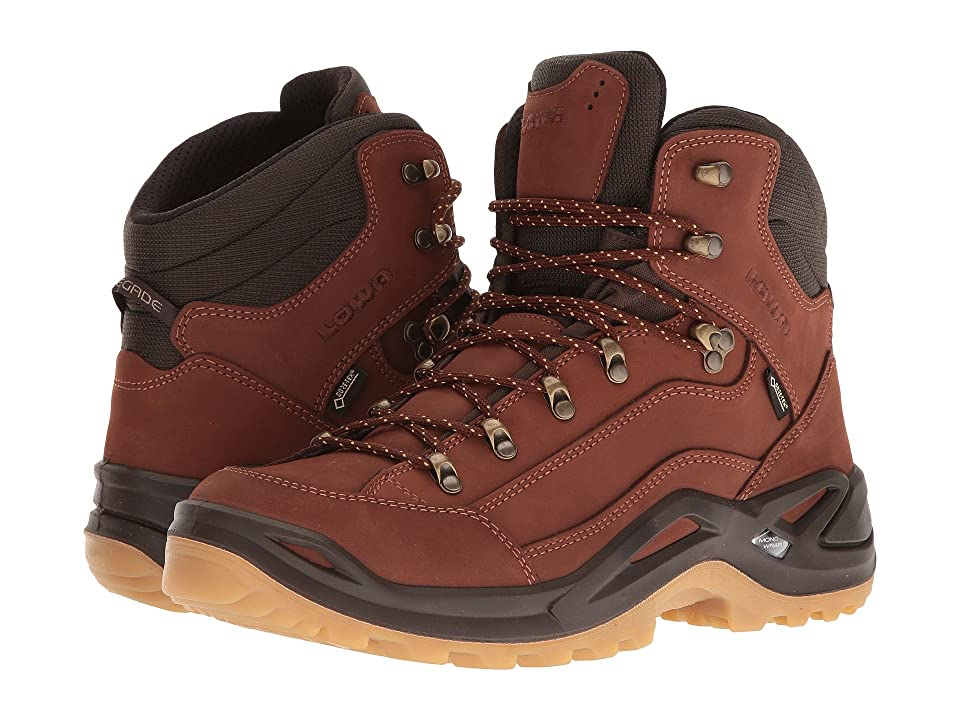 Lowa Renegade GTX Mid (Cognac/Dark Brown) Men's Hiking Boots