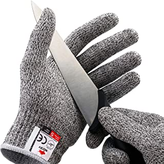 NoCry Cut Resistant Gloves – Ambidextrous, Food Grade, High Performance Level 5..
