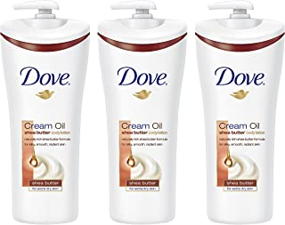 Dove Cream Oil Shea Butter Body Lotion, 13.5 Ounce, (Pack Of 3)