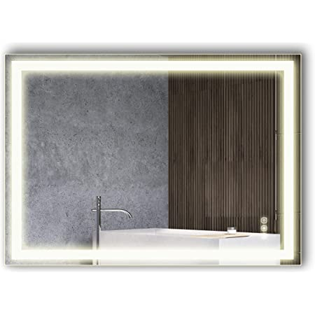 B C 30 X42 Lighted Bathroom Mirror Wall Mounted High Lumen Led Lights With Cri 95 Plug Wall Switch Ready Vertical Or Horizontal Defogger And Dimmer With Memory Touch Switch Non Copper Silver Backed Kitchen Dining