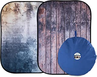 Lastolite by Manfrotto LL LB5715 1.5 x 2.1 m Derelict Wall/Wooden Fence Urban Collapsible Background