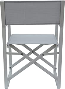 Christopher Knight Home 304603 Teresa | Outdoor Mesh and Aluminum Director Chairs | Set of 2 | in White