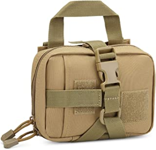 Small Tactical Pouch MOLLE System First Aid Kit Bag IFAK Medical Utility Bag Pocket for Home Workplace Outdoor