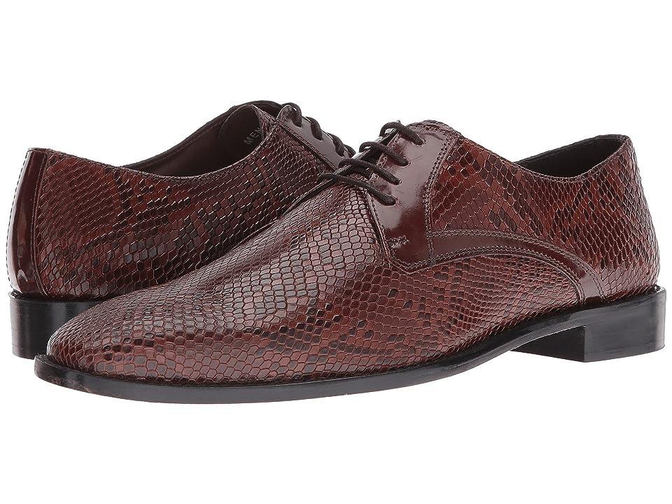 Stacy Adams Rinaldi Leather Sole Plain Toe Oxford (Cognac) Men