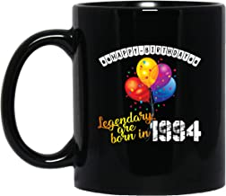 echip Ceramic Coffee Mugs 11oz Happy Birthday Legendary Are Born In Gift For Who Was Born In 1994 For Father Mother Son Daughter Husband Wife On Birthday Black Tea Cup
