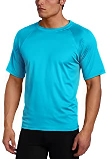 Kanu Surf Men's Solid Rashguard UPF 50+ Swim Shirt