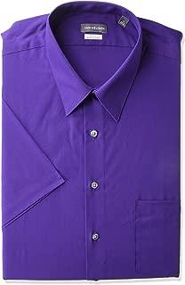 Men's BIG FIT Short Sleeve Dress Shirts Poplin Solid (Big...
