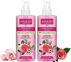 Vaadi Herbals Pvt. Ltd Pack Of 2 Rose Water - 100% Natural & Pure, 250 ml (Pack of 2)