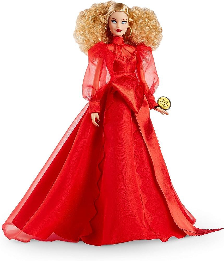 Barbie bambola bionda celebrativa del 75° anniversario dell`azienda Barbie Collector Mattel 75th