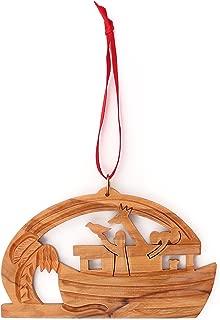 From The Earth - Olive Wood Noah's Ark Christmas Ornament - Fair Trade & Handmade