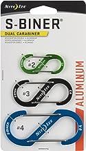 Nite Ize S-Biner 双登山扣铝 #2-绿黄色 多种颜色 混色 SBA234-A1-R6
