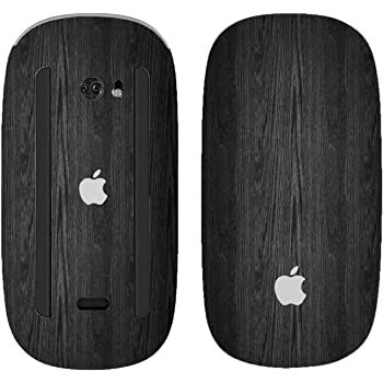 Smooth Black Marble Wireless, Rechargable Design Skinz Premium Vinyl Decal for The Apple Magic Mouse 2 with Multi-Touch Surface