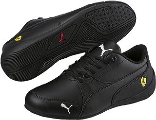 Puma FUTURE CAT SF FERRARI JUNIOR Weiss Rot Leder Kinder Sneakers Schuhe Neu