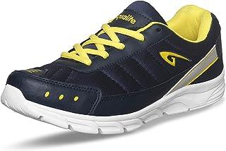 Aqualite Men MESH Navy Blue Yellow Running Shoes