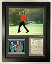 Legends Never Die PGA Tiger Woods 2005 Masters Champion Framed Double Matted Photos, 12