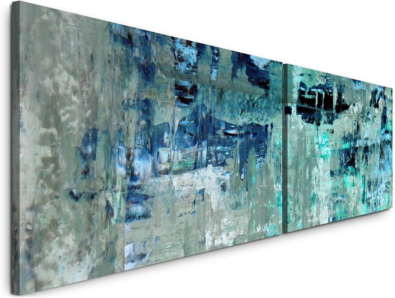 Paul Sinus Art Abstrakte Kunst 180x50cm 180x50cm 180x50cm - 2 Wandbilder je 50x90cm - Kunstdrucke - Wandbild - Leinwandbilder fertig auf Rahmen B07NXFWY33 0b176f