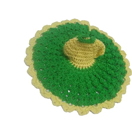 Buy Mansi Crotia And Handicraft Handmade Cotton Knitted Laddu Green Yellow Online At Low Prices In India Amazon In
