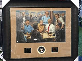 """Former Presidents""""The Republican Club"""" by Andy Thomas Custom Framed Giclee Paper Print Limited Edition #242 with Laser Etched Signatures 38x44 w/COA"""