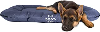The Dog's Bed, Premium Waterproof Dog Bed, M to XXL, Quality, Durable Grey Oxford Fabric, Removable Washable Cover, Tough YKK Zippers, Dog Beds for Home Car Crate & Outside, Puppy & All Pet Comfort