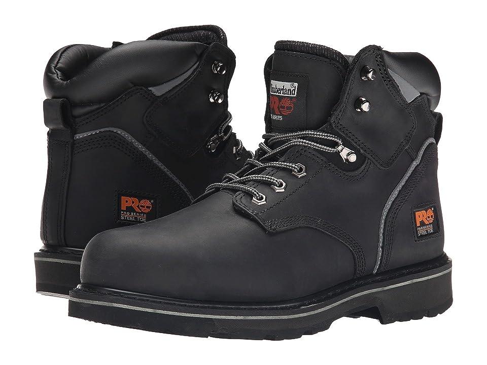 Timberland PRO 6 Pit Boss Steel Toe (Black Oiled Full-Grain Leather) Men