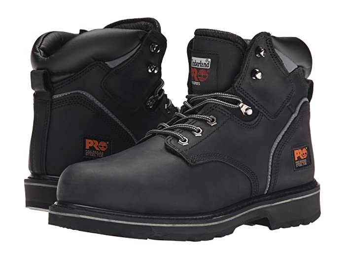 Timberland PRO  6 Pit Boss Steel Toe (Black Oiled Full-Grain Leather) Mens Work Lace-up Boots