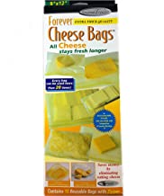 Forever Thick Reusable Antimicrobial Cheese Bags with a Zipper (10-Pack), Measures 9