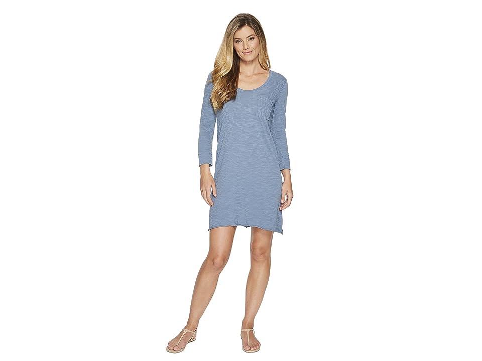 Lilla P Scoop Neck Dress (Indigo) Women