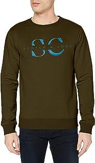 Scotch & Soda Men's Crew Neck Sweat Graphic Sweatshirt