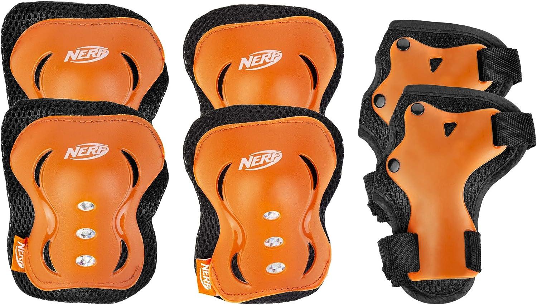 25-50 kg Dreirad SPOKEY Hasbro Nerf Schoner 6-teiliges Set f/ür Kinder Harte Protektoren in Gr S bis L und 2 Farben Unisex Fahrrad Skateboard High Impact Skater Armor f/ür Inline Skates