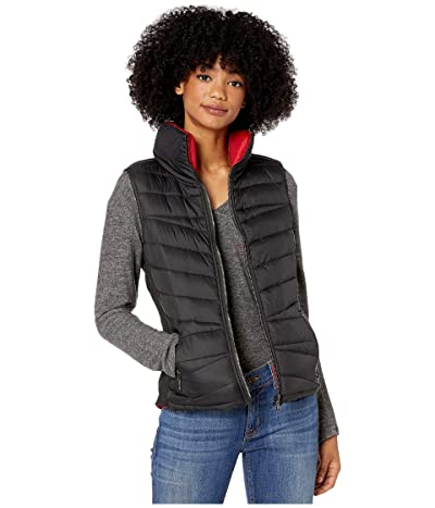 YMI Snobbish Reversible Puffer Vest (Black/Red) Women
