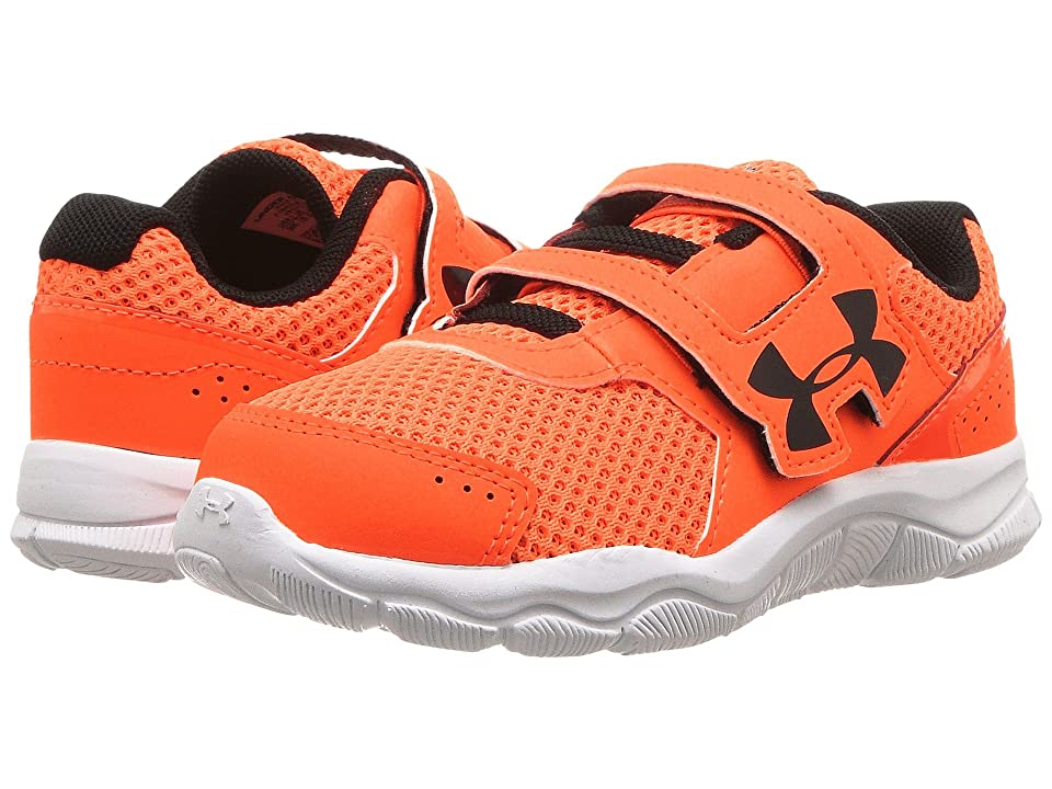Under Armour Kids UA BINF Engage BL 3 AC (Infant/Toddler) (Blaze Orange/White/Black) Boys Shoes