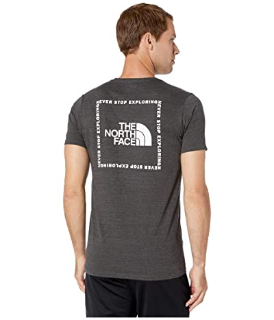 The North Face Short Sleeve Archived Tri-Blend Tee (TNF Dark Grey Heather) Men
