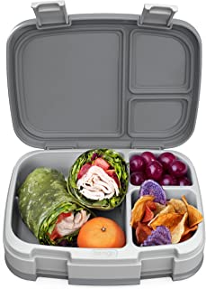 Bentgo Fresh – Leak-Proof, Versatile 4-Compartment Bento-Style Lunch Box with Removable Divider, Portion-Controlled Meals ...