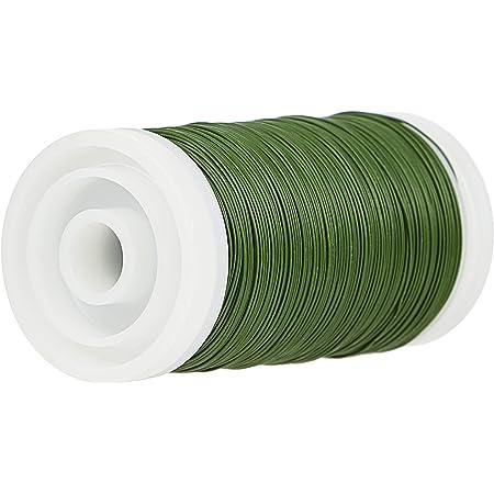 Efco 2224667 Fil d'aluminium pour Fleuriste, Vert, Bobine d'environ 100g