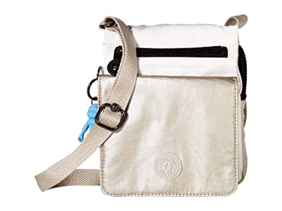 Kipling El Dorado Crossbody (Beige Combo) Cross Body Handbags