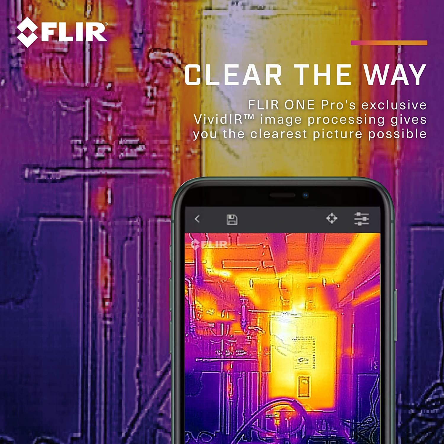 USB-C FLIR One Pro With VividIR and MSX Image Enhancement Technology Professional Grade Thermal Camera for Smartphones Android