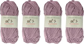 Delightfully Bold Tencel Worsted Weight Yarn, 100g Per Skein, 2 Skeins Mulitple Color Choices 4 Skeins Purple 6936739953314a