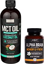 ONNIT Nootropic Stack - MCT Oil (24oz) + Alpha Brain (90ct)