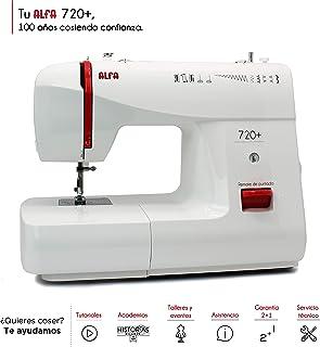 Alfa Basic 720 - Máquina de coser, 9 diseños de puntada,