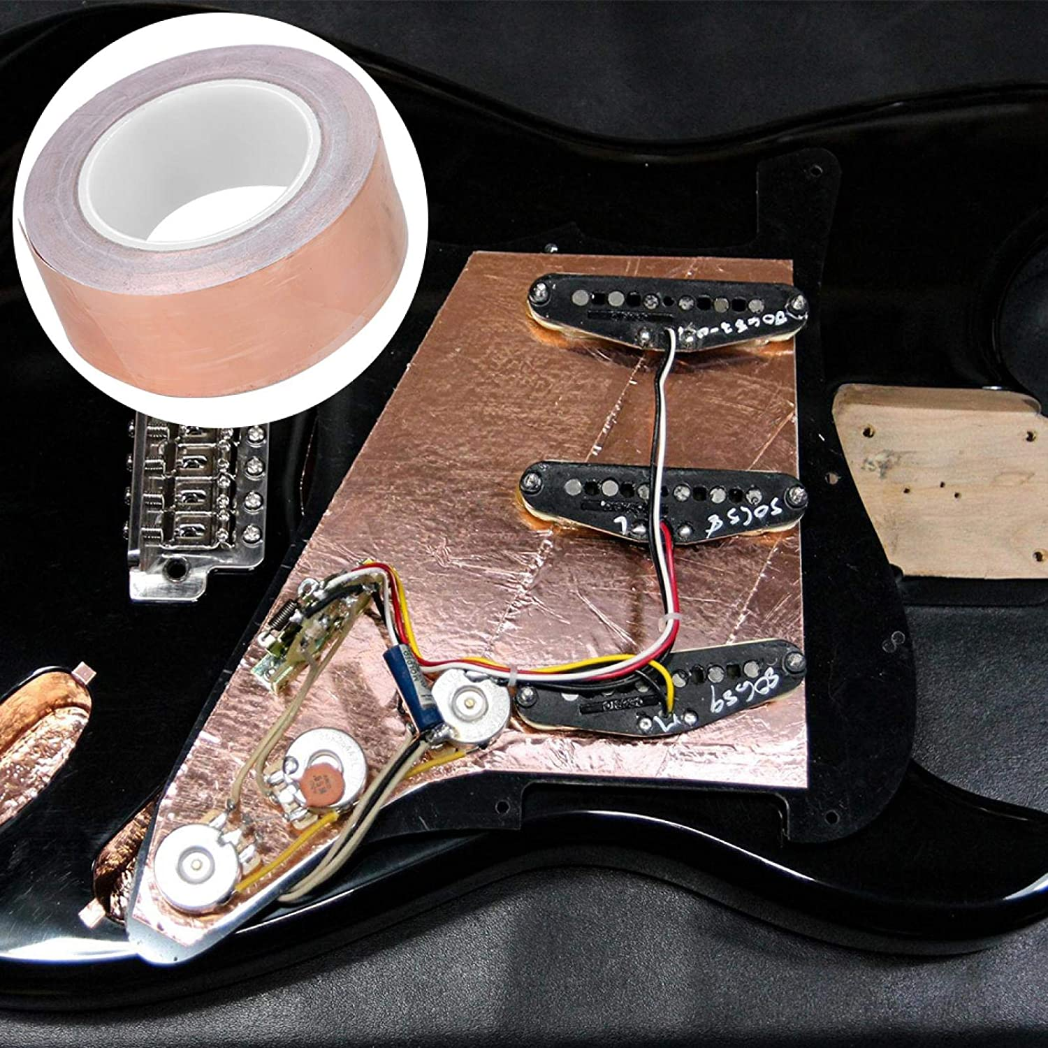 Copper Tape Practical for EMI Guitar Shielding Finally resale start Beginners 30m Price reduction