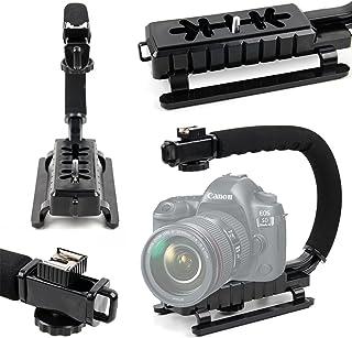 DURAGADGET Estabilizador de Imagen de Mano para cámara Canon EOS 1200D 1300D / Rebel T6 350D 5D Mark IV 5DS R 5DS 750D 760D 77D 7D Mark II