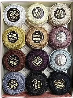 Eleganza, #8 Perle Cotton Embroidery Thread Sampler Collection, Neutrals