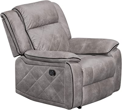 Sunset Trading Ellis Recliner, Manual Chair, Taupe