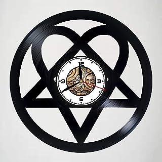 e575f7e8c06 H.I.M - Heartagram - HANDMADE Vinyl Wall Clock – Perfect gifts for birthday  wedding anniversary valentine s
