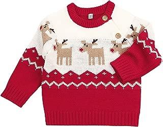 TAIYCYXGAN Baby Boys Girls Ugly Christmas Sweater Toddlers Deer Pullover Sweatshirt