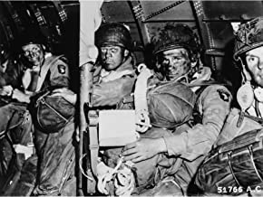 War WWII USA Paratroopers D-Day 1944 Photo Premium Wall Art Canvas Print 18X24 Inch