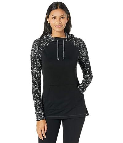 Smartwool Merino 250 Drape Neck Hoodie (Black Digital Snowflake) Women