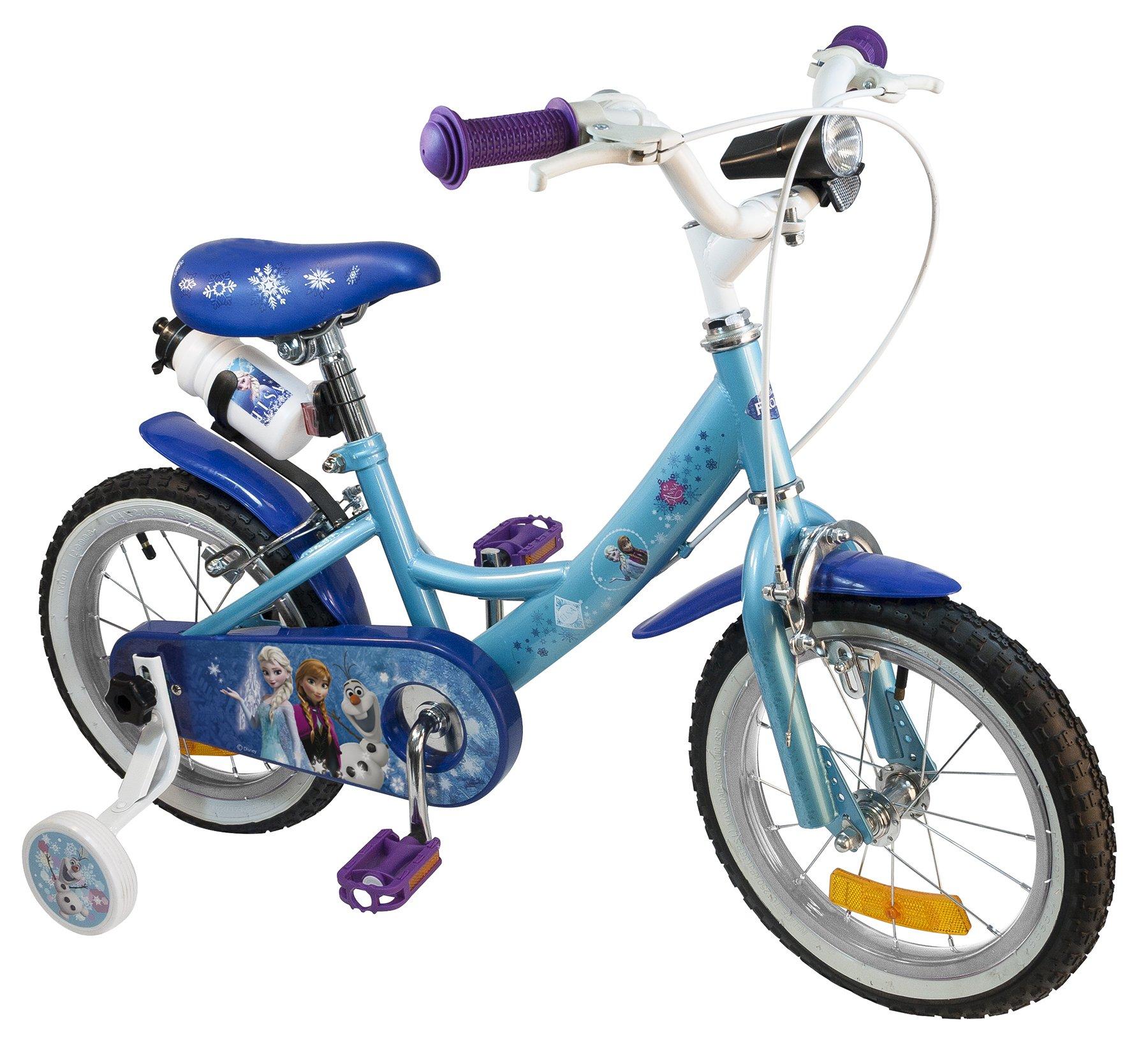 Disney Frozen 808898 Bicicleta niña, Azul, 14 Pulgadas: Amazon.es ...