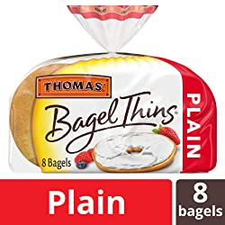 Thomas' Plain Bagel Thins Bagels, 8 Count